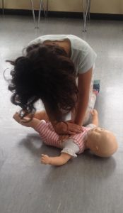 First Aid girl doll resus